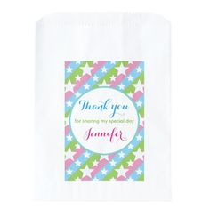 Stars and Colourful Stripes Thank You Favor Bag