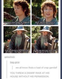 Hahahaha dammit Gandolf!