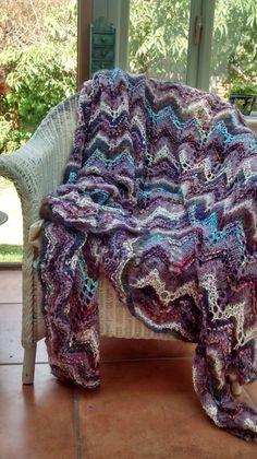 Blue Throw Blue Throws, Knitting Designs, Knitwear, Layout, Blanket, Luxury, Bed, Crochet, Pattern