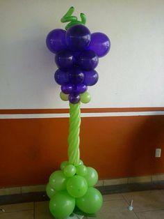 Balloon column Balloon Arrangements, Balloon Decorations, Columns Decor, Balloon Display, Church Activities, Balloon Columns, Ideas Para Fiestas, Event Decor, Communion