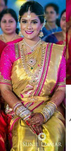 Sneha prasanna at swayamvara south asian wedding exhibition - Sneha Prasanna Kundan Work Bridal Saree Blouse Blouse
