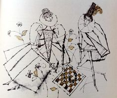 Illustration from Ten Great Plays by William Shakespeare (Hamlyn, 1962) by Alice and Martin Provensen.