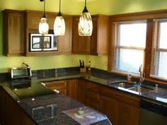 ... Hickory cabinets and black granite ... | Kitchen, Cabinet