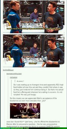 Robert Downey Jr, Chris Evans, and Mark Ruffalo on the Avengers set...behind the scenes