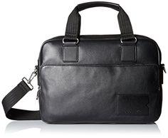 Lacoste Mens Classic Premium Computer Bag Black One Size * Click image for more details.