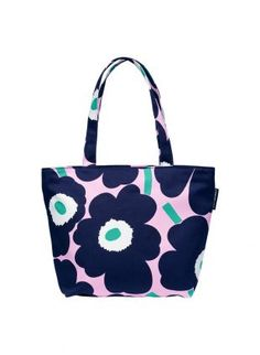 Laukut | Laukut & asusteet | Marimekko Marimekko Bag, Girls Jewelry Box, Floral Illustrations, Shopper Tote, New Bag, Fashion Fabric, Polymer Clay Jewelry, Bag Accessories, Diaper Bag