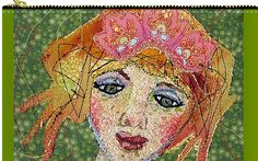 Custom fiber art reproduced in fun zippered pouches, canvas bags, prints and more.