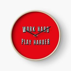 Netflix & Chill - Work Hard and Play Harder Clock by 99designstudioCo on Etsy