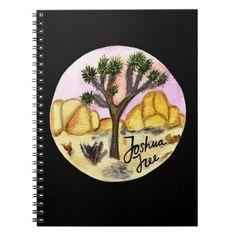 Joshua Tree National Park Watercolor Notebook   #food #history #holidays camping checklist, camping equipment, camping acampar, back to school, aesthetic wallpaper, y2k fashion