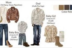 Lots of family photo clothing palettes