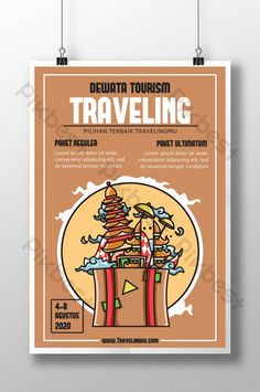 Tourism Day, Famous Landmarks, Bali Travel, Sign Design, Vacation Trips, Travel Posters, Instagram Story, Traveling, Templates