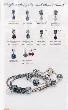 Pandora Catalogue, Pandora Collection, Glass Collection, Pandora Bracelet Charms, Pandora Jewelry, Pandora Story, Pearl Flower, Black Enamel, Bracelet Designs