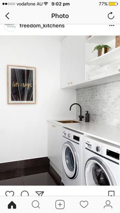 Looking for your perfect laundry room design? Check out Darren Palmer's top laundry design tips for the perfect mix of fashion and functionality. Laundry Room Cabinets, Laundry Room Organization, Laundry In Bathroom, Laundry Area, Garage Laundry, Interior Design Living Room, Living Room Designs, Stainless Steel Kitchen Faucet, Modern Laundry Rooms