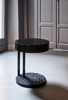 Round bedside table RALF | Bedside table - Meridiani