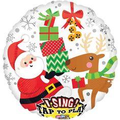 Singing Balloon Christmas Balloon Santa Balloon by ThePartyGnome