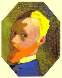 Les Nabis : Edouard Vuillard - Autoportrait octogonale (1892)