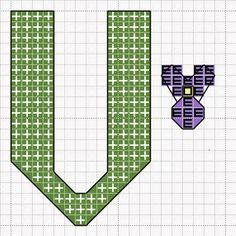 V is for Violet cross stitch pattern by Craft with Ruth Cartwright