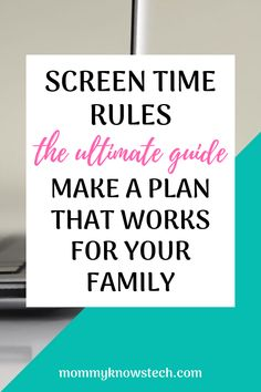 Need help setting effective screen time rules for your family? Check out these expert guidelines and see real-life examples of screen time rules that work. Teaching Technology, Teaching Biology, Internet Safety For Kids, Technology Addiction, Learn Programming, Learn To Code, Stem Activities, Life Science, Computer Science