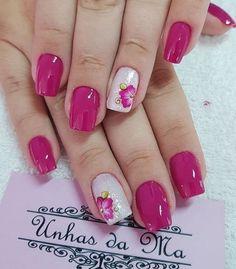 Manicure Nail Designs, Nail Polish Designs, Cool Nail Designs, Nail Manicure, Gel Toe Nails, Fall Gel Nails, Purple Nail Art, Pink Nails, Cute Nails