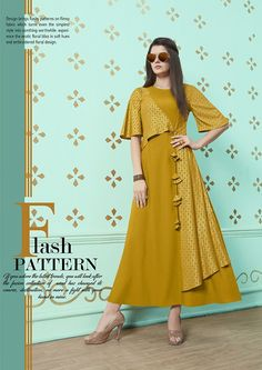 Shop Stylish Kurtis Online with the best price.Flaunt latest styled cuts and Give yourself the stylish look for Valentine day or Parties. Simple Kurti Designs, Kurta Designs Women, Kurti Neck Designs, Dress Neck Designs, Blouse Designs, Kurti Sleeves Design, Sleeves Designs For Dresses, Stylish Kurtis Design, Fancy Kurti