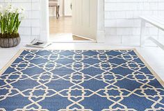 I love colorful outdoor rugs...the blue run in my bedroom is an outdoor run - don't tell anyone ;)