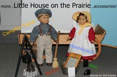 Little House on the Prairie-Make these cute accessories for dolls!
