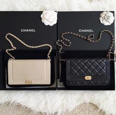 Chanel Boy Wallet on a chain (WOC)