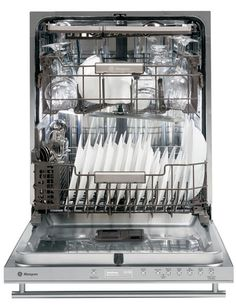 GE Monogram dishwasher, featuring dedicated jets for cleaning bottles, wineglasses, and Champagne flutes. Available in stainless steel or with custom panels; $1,800. monogram.com, 800-626-2000