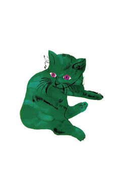 Andy Warhol: 'Green Cat', c.1956.
