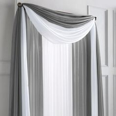 wholeHome /MD 'Silhouette Sheer' Scarf Valance