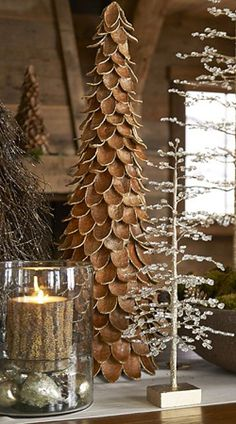 Rustic Holiday Christmas decorating ideas and products for your home.