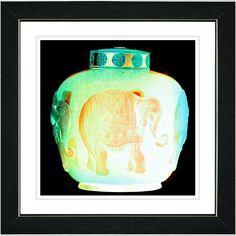 Studio Works Modern 'Alabaster Elephant Urn' Framed Print
