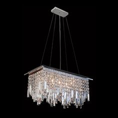 Contact us for more information. Design Trends, Cool Lighting, Interior Design, Chandelier, Lighting, Crystal Chandelier, Ceiling Lights, Display, Rectangle