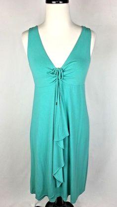 TOMMY BAHAMA Dress Womens XS Blue VISCOSE Sleeveless Full Length #TommyBahama #Maxi #Casual