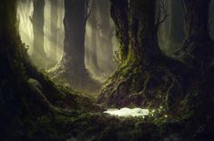 The Sleeping Green - The Sleeping, Julian Bauer on ArtStation at https://www.artstation.com/artwork/PB3vn