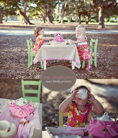tea party photoshoot. just bought a table and chairs just for one of these. so excited!