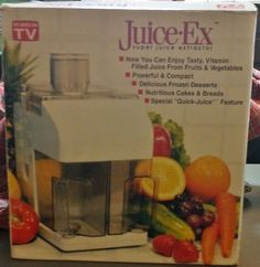 Juice EX Super Juice Extractor New in Box as Seen on TV | eBay $29 http://stores.ebay.com/LeCaze-Boutique