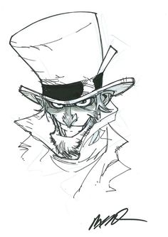 Mad Hatter by Humberto Ramos Comic Art Comic Book Artists, Comic Artist, Comic Books Art, Artist Art, Character Inspiration, Character Art, Cool Sketches, Sketch Design, Drawing Reference