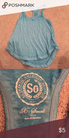 Blue Tank Top EUC! barely worn. Loose Fit Tops