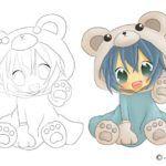 Coloriage manga thumbnail