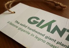Realization corporate identity for GIANT®, a leader in the flooring industry.Manufacturers of large noble wood flooring.