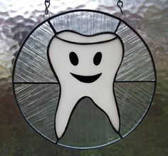 Stained Glass Tooth With A Smile