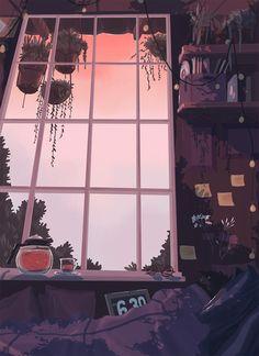 waneella is creating pixel art Art And Illustration, Art Anime, Anime Kunst, Animes Wallpapers, Cute Wallpapers, Aesthetic Art, Aesthetic Anime, Aesthetic Bedroom, Aesthetic Pastel