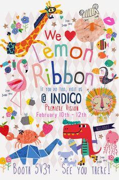 print & pattern: INDIGO PARIS - lemon ribbon