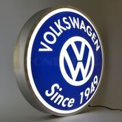Volkswagen Since 1949 Backlit LED Lighted Sign - Gamer House Ideas 2019 - 2020 Backlit Signs, Led Signs, Wall Signs, Volkswagen Golf Mk1, Vw T1, Ferdinand Porsche, Vw Logo, Free Cars, Vw Beetles