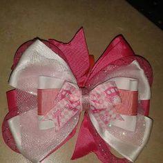 Moños rosa con blanco