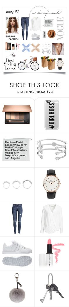 """""""At the supermarket - In a Spring Day"""" by marty-97 ❤ liked on Polyvore featuring Casetify, Dyrberg/Kern, Eddie Borgo, Daniel Wellington, H&M, By Malene Birger, Chanel, adidas, Diego Dalla Palma and Helen Moore"""