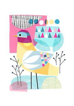 EARLY WINTER bird Ellen Giggenbach print by EllenGiggenbach