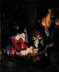 The Nativity by Lorenzo Lotto 1480-1556