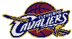 Cleveland Cavaliers Cross Stitch Pattern NBA by GeekStitches